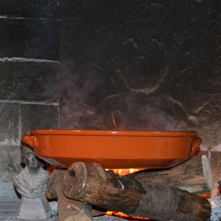 Plat de cuisson en Terre Cuite - D 32 cm