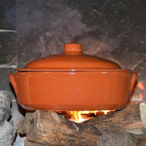 Casserole en terre cuite - D 30 cm